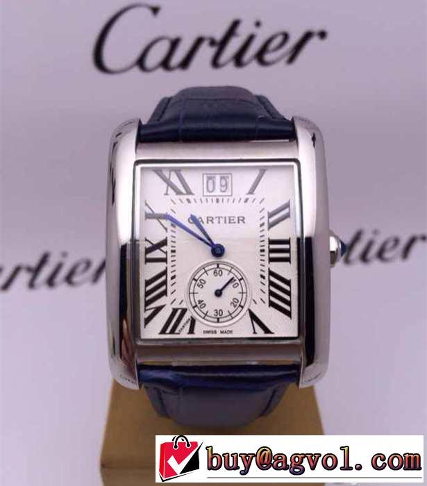 激安 通販 ブランド_カルティエ 時計 CARTIER TANK MC タンクエムシーウォッチ スティールレザーWSTA0010
