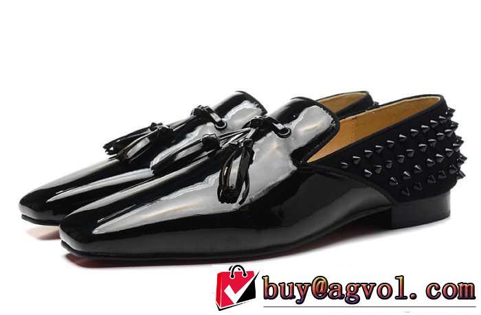 2015 超レア christian louboutinクリスチャンルブタン レザーシューズ靴