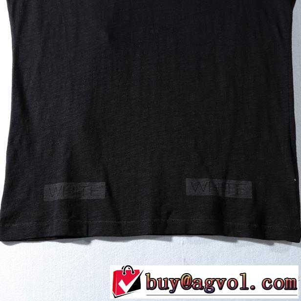 シンプル印象になって オフホワイト ブランド コピー 白tシャツ 美しい カジュアル着心地 夏服 メンズ ユニセックス