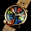 ガガミラノ腕時計GAGAMIRANO SLIM ゴールドプレーティドスリム 46MM シルバープレーティド Gagamirano ステンレスミネラルガラスクォーツウォッチ