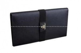 最安値プラダ【PRADA】ブラック長財布 カード入れ17ヶ所あり 並行輸入品 1M1302