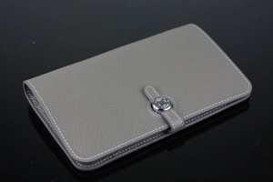 ブランド 激安 サイト_品質保証 エルメス 財布 二つ折り HERMES レザーウォレットグレースナップ