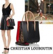使い勝手の良いアイテム クリスチャン ルブタン Christian Louboutin Paloma Small Spiked 便利性に溢れるトートバッグ .