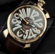 個性的なGaGaMILANO ガガミラノ 防水機能のある機械式腕時計 .