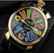 おしゃれ意識の高いGaGaMILANO ガガミラノ 耐久性のあるブラック腕時計.