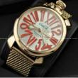 ラグジュアリー  GaGaMILANO ガガミラノ 日本製クオーツ ムーブメント サファイヤクリスタル風防 ステンレス メンズ 腕時計.