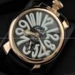 一味違うGaGaMILANO ガガミラノ腕時計 2針 機械式(手巻き)/夜光効果 サファイヤクリスタル風防.