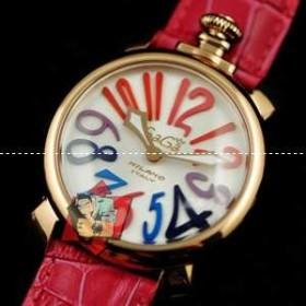 ブランド コピー 販売_ガガミラノ 時計 コピー Gagamilano manuale マヌアーレ 腕時計 ゴールデン/レッド