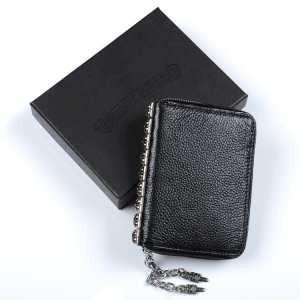ブランド コピー バック_CHROME HEARTS メンズ財布 クロムハーツ コピー ブラック レザーウォレット