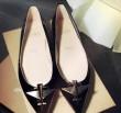耐久性高き激安通販 Christian Louboutinクリスチャンルブタン 偽物 ブラック皮革靴コピー レディース シューズ