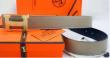 お買い得限定セールHERMES エルメス ベルトコピー  レザー本革 ベルト ビジネス用 グレー ベルト