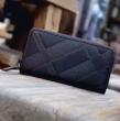 BURBERRY 財布 メンズ バーバリー レザー ファスナー ブラック*ネイビー PVC 人気 限定セール.