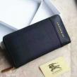 BURBERRY バーバリー 財布 偽物 メンズ ファスナー スモークドチェックレザー PVC ネイビー×ブラック.