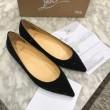 2018年最新版 クリスチャンルブタン フラット シューズ Follies Strass Flat 華奢に美しいCHRISTIAN LOUBOUTIN 靴 新作 レディース ブラック