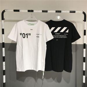 OFF WHITE CO VIRGIL ABLOH  オフホワイト  【最新秋冬ファッション】 半袖Tシャツ  2色可選