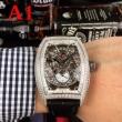 驚きの破格値大得価技術的機能性メンズ時計フランクミュラー偽物価値のある時計かっこいい魅力的ブラックブラウン