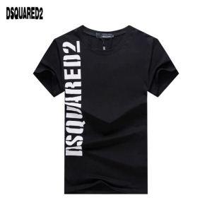 ブランド スニーカー 激安_激安大特価本物保証レイヤードtシャツ半袖黒白DSQUARED2ディースクエアード コピードライタッチ相性抜群