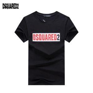 ブランド コピー バック_激安大特価低価コットンTシャツ黒白男性用DSQUARED2ディースクエアード 半袖 コピー十分戦力快適さフレッシュ
