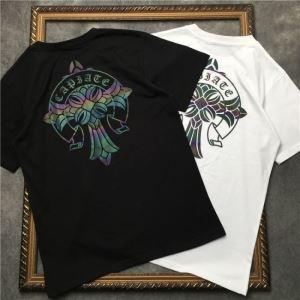 2色可選 男女兼用 個性的なスタイリング 安定感のある2019夏新作 クロムハーツ CHROME HEARTS 半袖Tシャツ