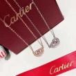 根強い人気定番商品 カルティエ スーパー コピーCARTIERネックレス通販 Nランク話題級ポイント ハートの型の小粒ダイヤがはめ込む
