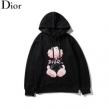 超人気美品値引きセール Diorスーパーコピー通販 数量限定セール   ディオール パーカーコピー黒白2色 プリントカジュアルデザイン