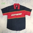 2色可選 定番人気の2019秋冬モデル  Tシャツ/半袖 Supreme color blocked work shirt 19AW logo