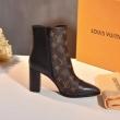 ヴィトン コピー 人気 モノグラムの素材 LOUIS VUITTON ショートブーツコピー 柔らかい履き心地 誇るべきの高品質を持つ