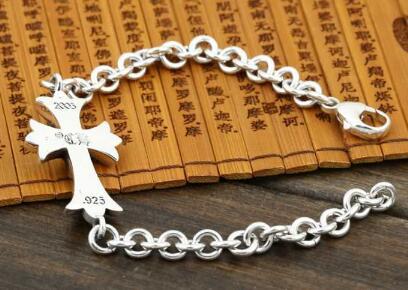 ブランド 通販 店_光沢感抜群CHROME HEARTS ブレスレットクロムハーツアクセサリーバングル十字架