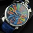 お洒落にGaGaMILANO ガガミラノ 人気を獲得するマルチカラーインデックス 2針 機械式腕時計 .