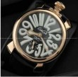 華やかなGaGa Milano、ガガミラノの2針 機械式夜光効果の女性腕時計.