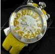 日常生活防水性があるGaGaMILANO ガガミラノ腕時計 日本製クオーツ イエロー.