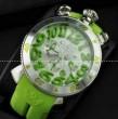 防水機能性があるGaGaMILANO ガガミラノ コピー 日本製クオーツ6針 グリーン インデックス腕時計 .