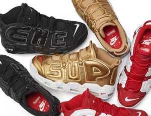 春夏季 Supreme x Nike Air More Uptempo Black スニーカー3色可選