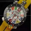 ガガミラノステンレスケースミネラルガラスクォーツ腕時計GAGAMIRANO CHRONO 48MM 6054.4