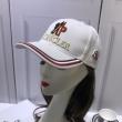 お得限定セール合わせやすい高品質刺繍ロゴキャップブラックホワイトレッドMONCLERモンクレール 帽子 コピー