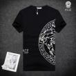 ヴェルサーチ t シャツ コピーVERSACE驚きの破格値爆買いコットンtシャツ夏物消臭機能ブラックホワイト赤色