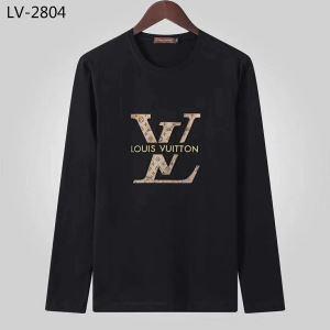 数量限定100%新品 ヴィトン コピー 激安LOUIS VUITTON偽物長袖tシャツ 黒白2色カジュアル